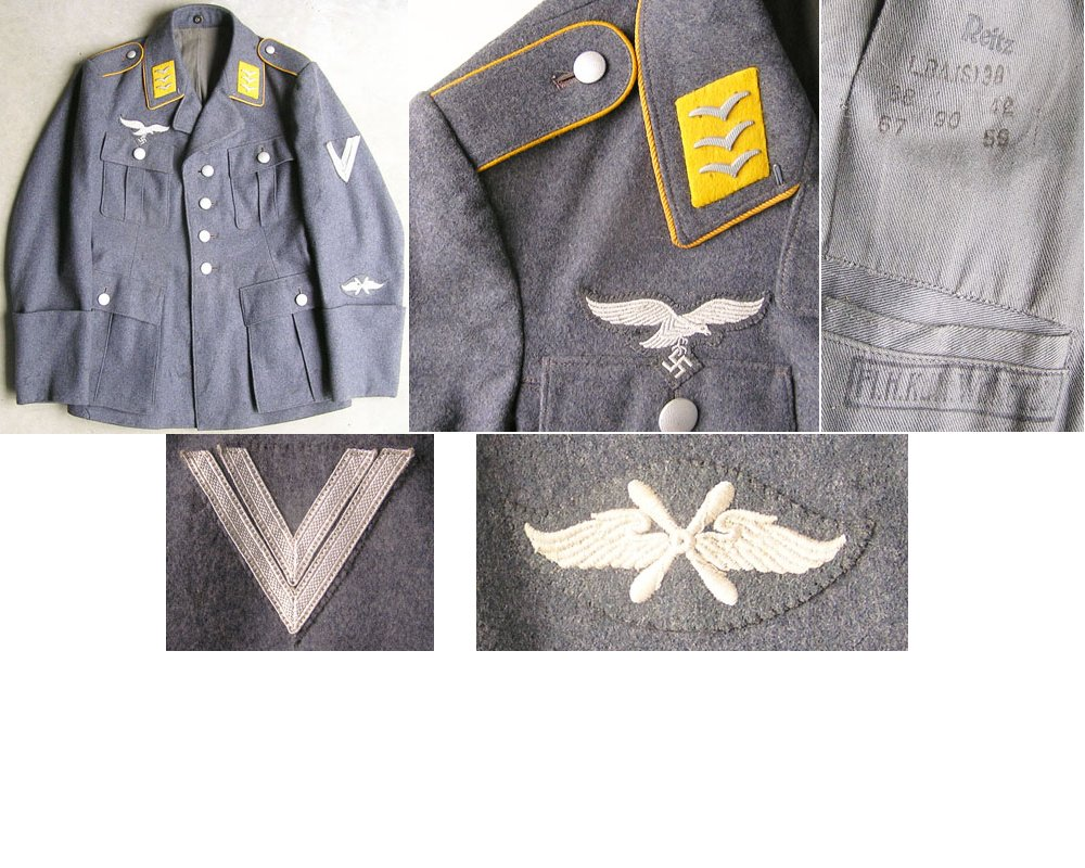 LW1345. LUFTWAFFE CORPORAL'S FOUR POCKET SERVICE TUNIC