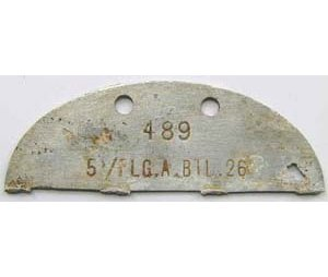 DT2505. LUFTWAFFE HALF DOG TAG - 5/FLG.A.BIL.26