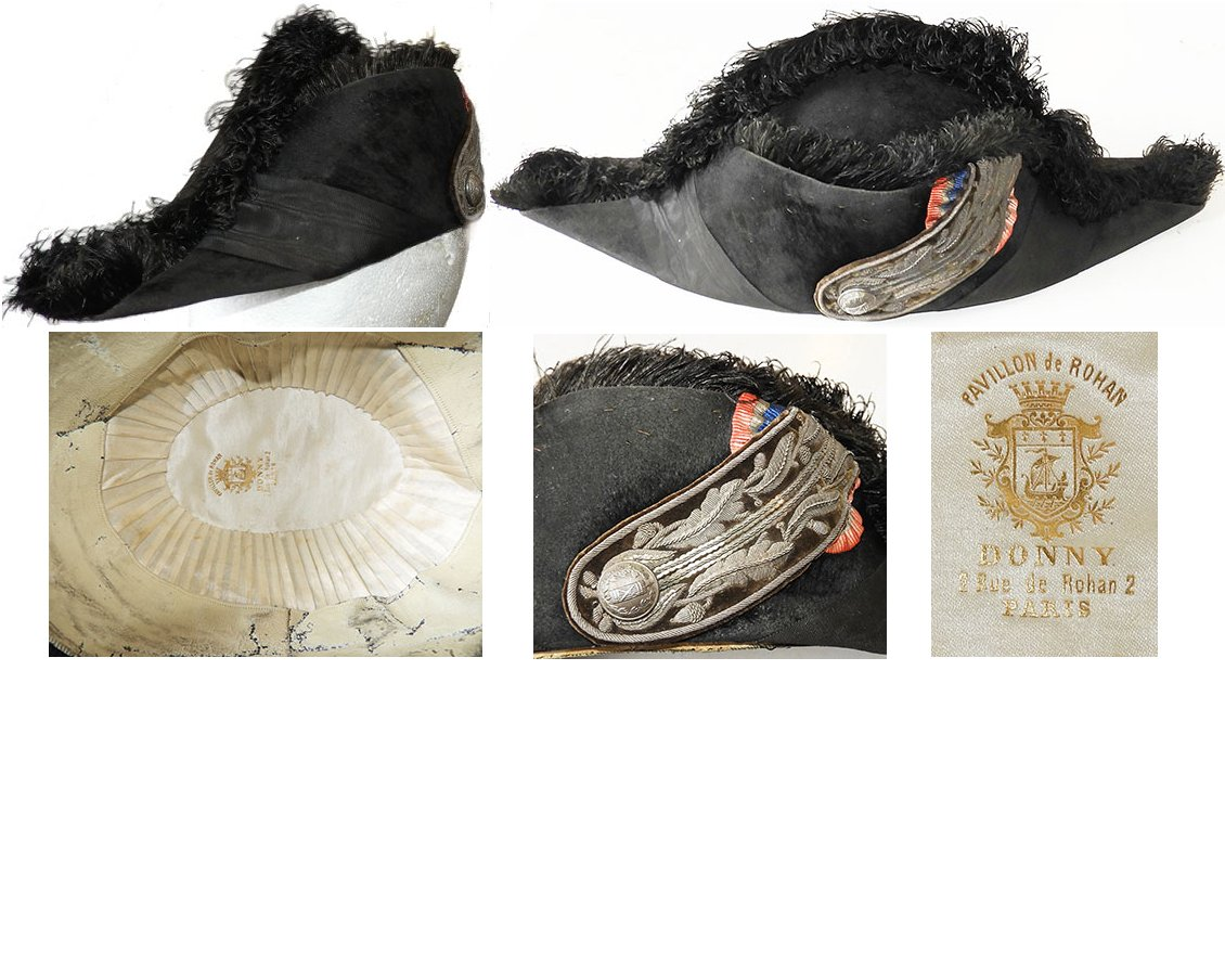 MIL220. FRENCH BICORN DIPLOMATIC CORPS VELOUR HAT
