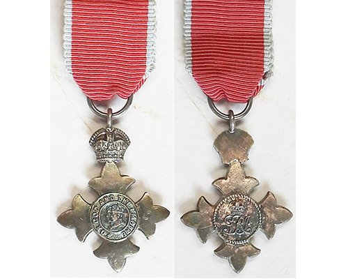 MIN1039. Miniature Order of the British Empire, MBE type 2 Civil