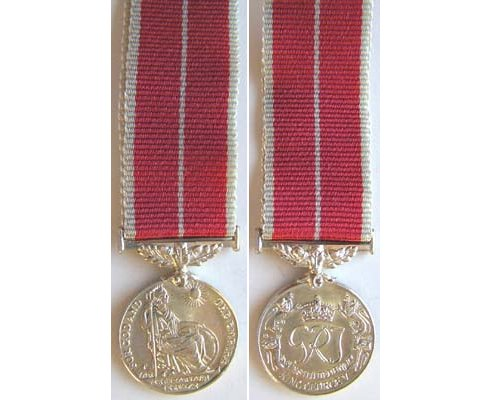 MIN1042, Miniature British Empire Medal, Military, GVIR cypher