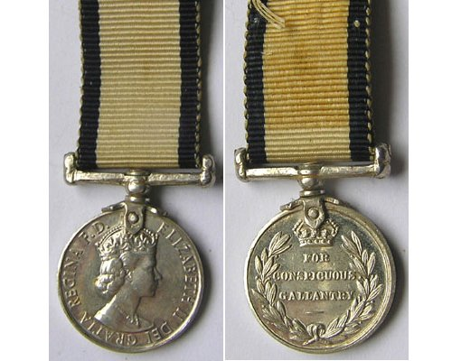 MIN1090. Miniature Conspicuous Gallantry Medal Navy, EIIR