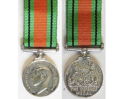 MIN1363. Miniature Defence Medal – Old striking