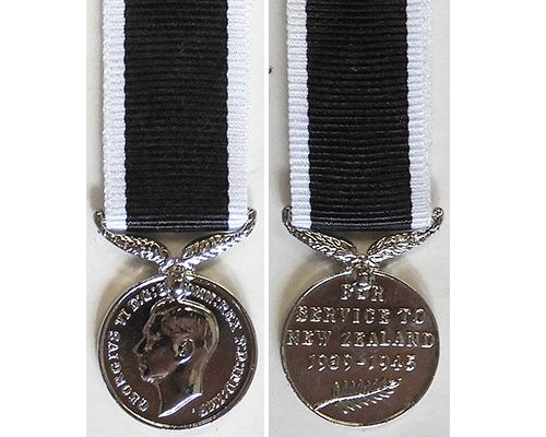 MIN1367. Miniature New Zealand War Service Medal - New striking