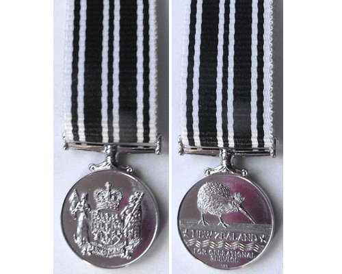 MIN1376. Miniature New Zealand Operational Service Medal