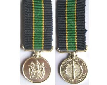 MIN2606. Miniature Rhodesia Police Long Service Medal