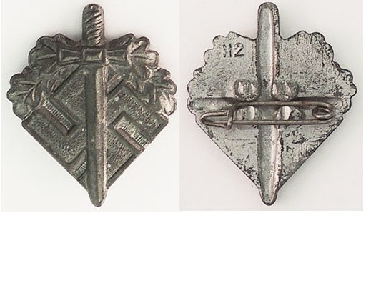 PIN034. GERMAN WAR VETERANS FUND RAISING BADGE, H2