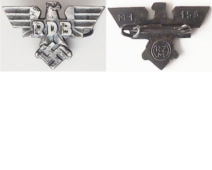 PIN047. RDB MEMBERS PIN, silvered eagle M1/153