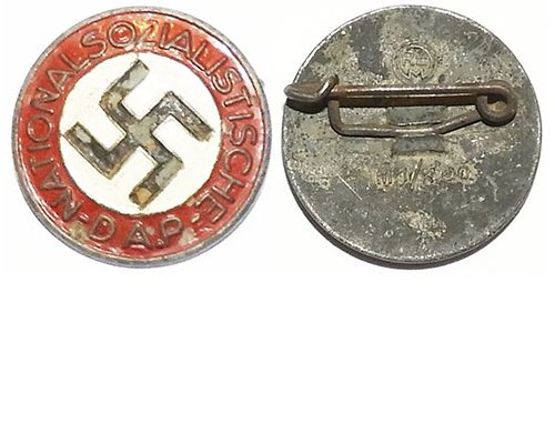 PIN061. NAZI PARTY BADGE, round painted type