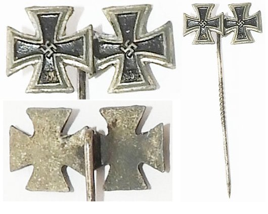 PIN075. IRON CROSS I 1939 & IRON CROSS II 1939 LAPEL BADGE