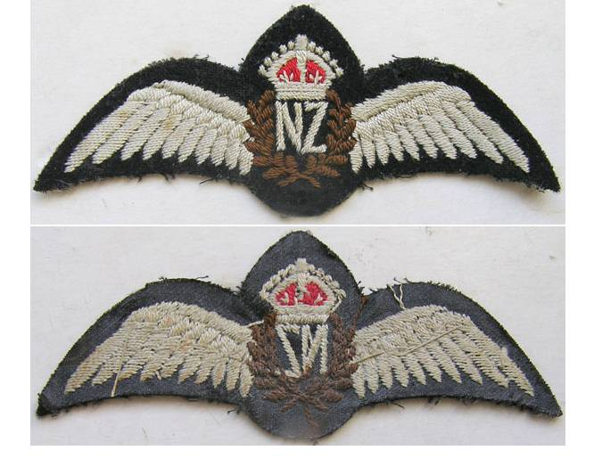 RAF104. RNZAF PILOTS WINGS, WWII period, wider NZ
