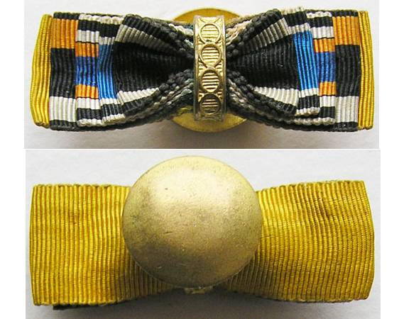RB010. MINIATURE GERMAN LAPEL RIBBONS - 1864-1898