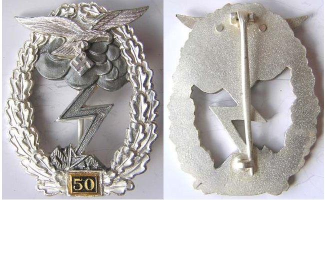 RS023. LUFTWAFFE GROUND ATTACK BADGE for 50 engagements