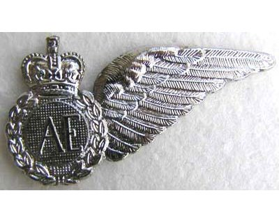 RAF116. AE HALF WING, silvered