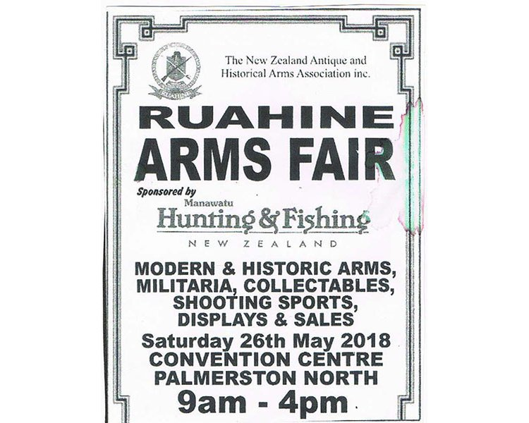RUAHINE ARMS FAIR THIS SATURDAY