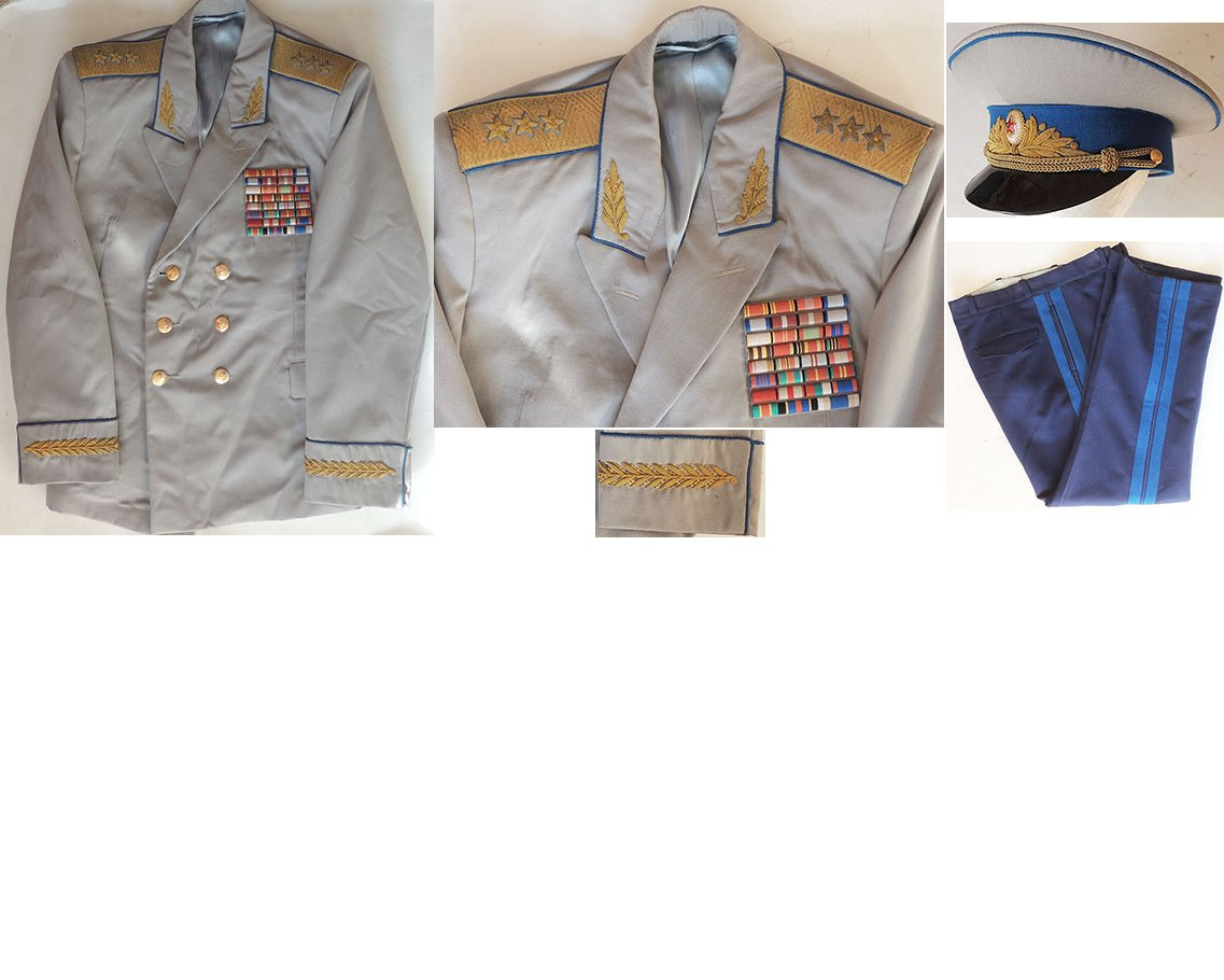 SOV003. SOVIET K.G.B. THREE STAR GENERAL'S SERVICE UNIFORM