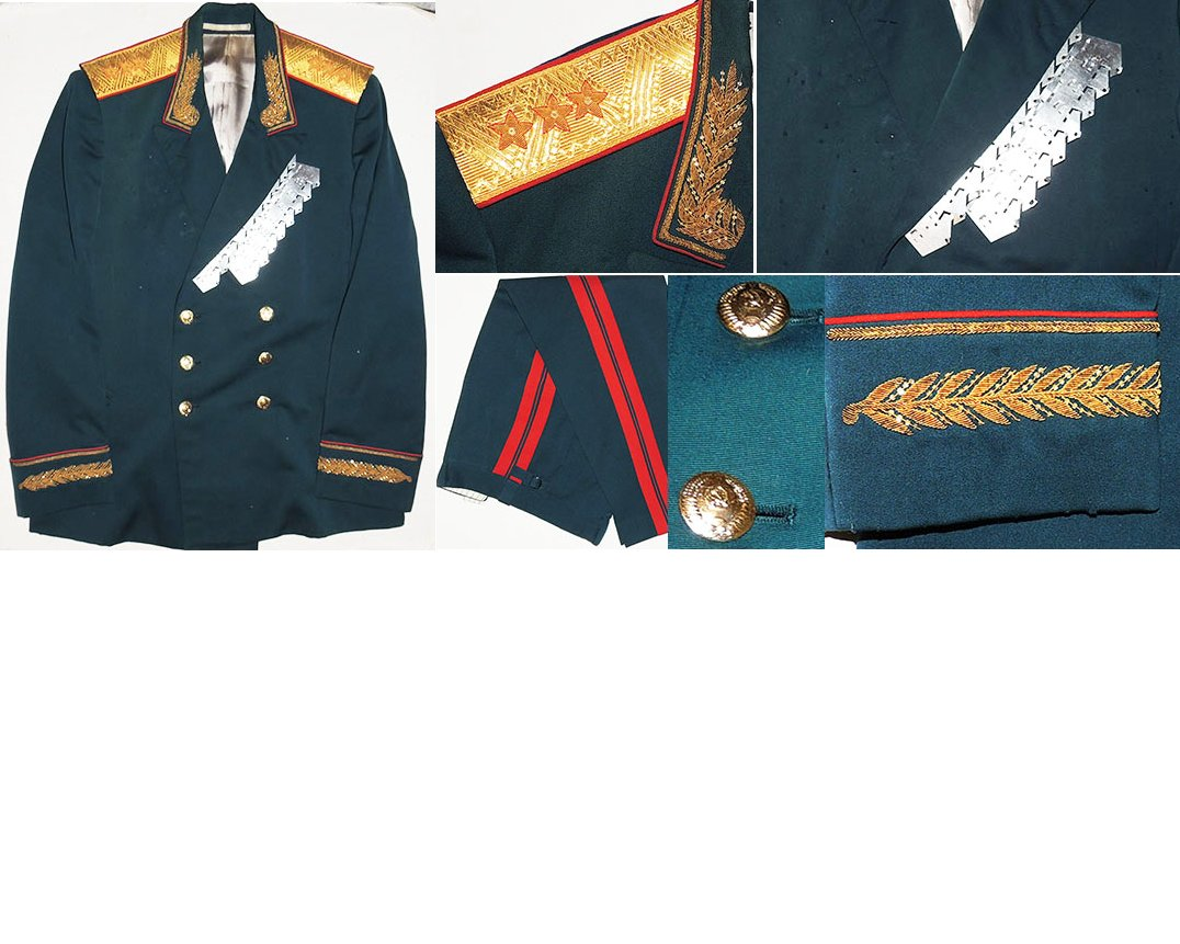 SOV004. SOVIET ARMY THREE STAR GENERAL'S  FULL DRESS UNIFORM
