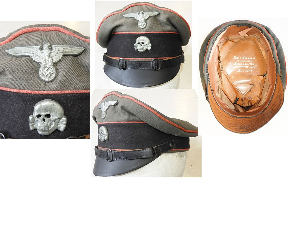 SS1470. WAFFEN-SS ARTILLERY NCO'S PEAKED CAP, small size