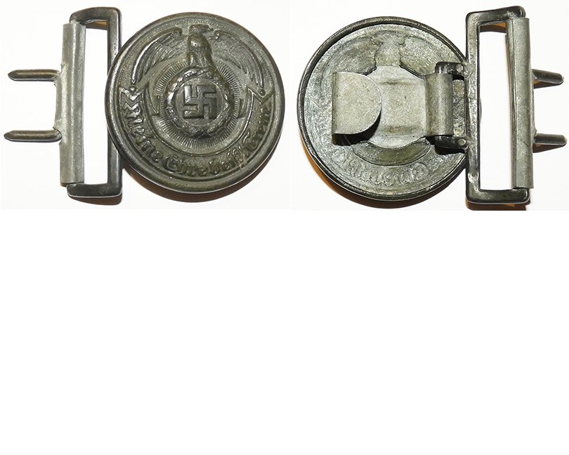 SS1472. SS ENLISTED MANS BELT BUCKLE, Assman