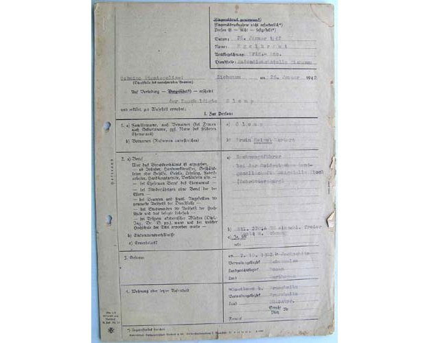 DOC055. GESTAPO INVESTIGATION FILE, Zichenau, 26 January 1942