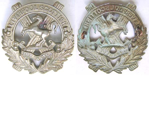 UKB1423. 10TH KING'S REGIMENT (LIVERPOOL SCOTTISH) cap badge