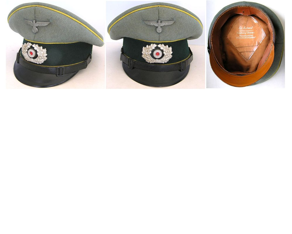 WH1243. SIGNAL'S WARRANT OFFICER'S PEAKED CAP - Ed Schmidt