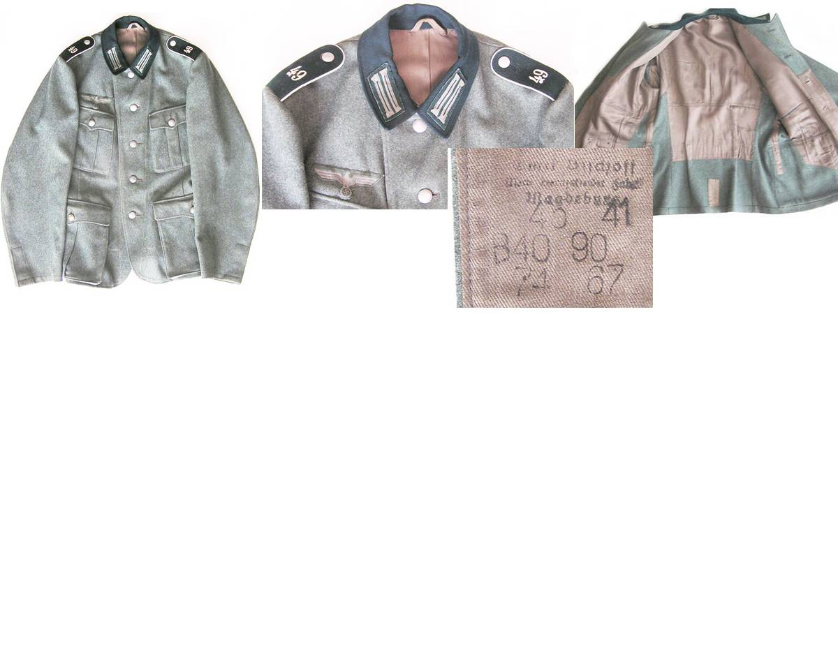 WH1255. WEHRMACHT M36 FOUR POCKET SOLDIER'S TUNIC
