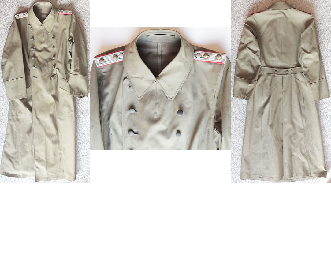 WH1257a. WEHRMACHT ARTILLERY CAPTAIN'S RUBBERISED COAT