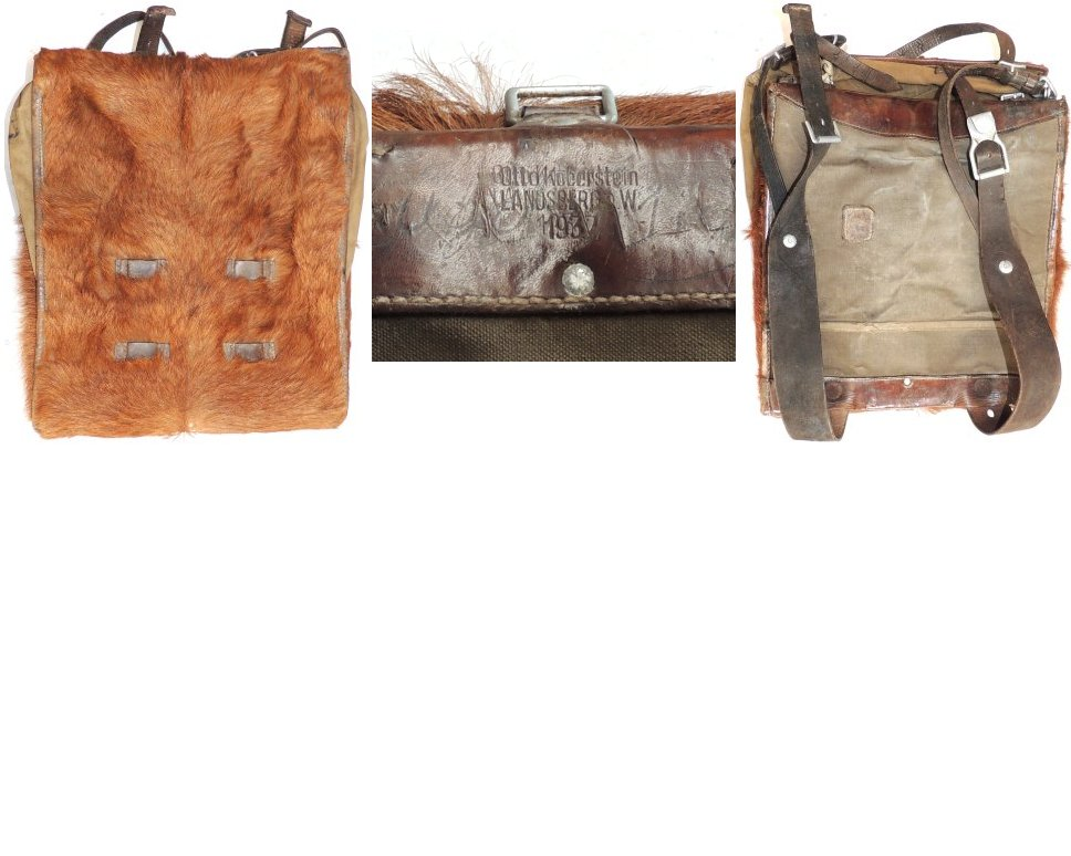 WH1259. WEHRMACHT FUR BACK PACK