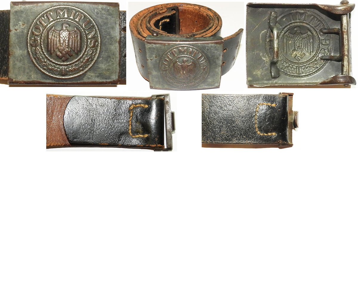 WH1275. WEHRMACHT SOLDIERS BELT AND BUCKLE, late war