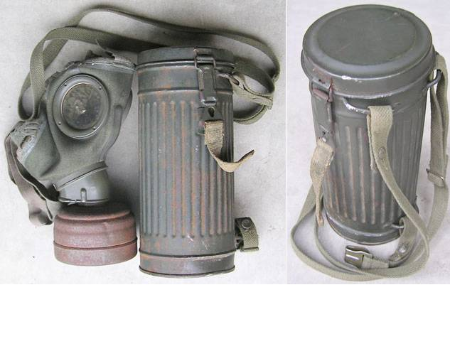 WH1294. WEHRMACHT GAS MASK & CANISTER, Dated 1943