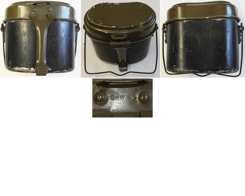 WH1290. WEHRMACHT MESS TIN, maker marked DHW 44