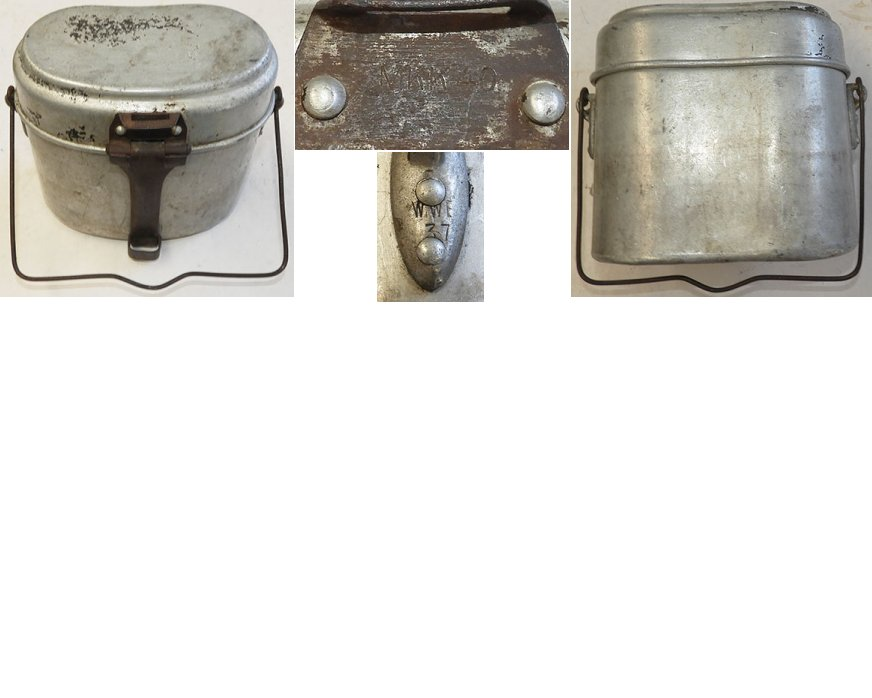 WH1291. WEHRMACHT MESS TIN, maker marked WWE.37